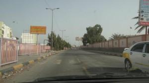 شوارع المنصورة وتبدو خاليه من الماره بسبب الاشتباكات