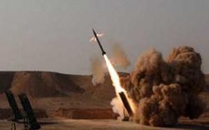 دفاعات التحالف العربي بمأرب تصطاد صاروخ مليشاوي