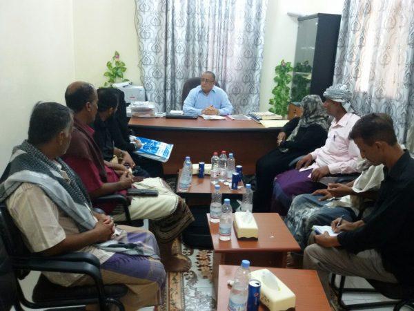 لقاء محافظ لحج بمنظمات المجتمع المدني