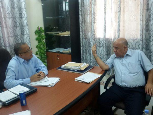 لقاء المحافظ بنائب وزير الكهرباء