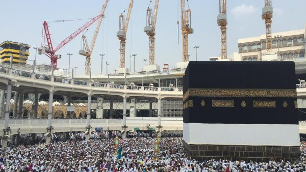 Muslim pilgrims walk around the Kaaba at the Grand Mosque on September 14, 2015 in Saudi Arabia's holy Muslim city of Mecca. The hajj, a pillar of the Muslim religion, drew last year about two million faithful and is expected to start on September 21. AFP PHOTO / STR (Photo credit should read -/AFP/Getty Images)