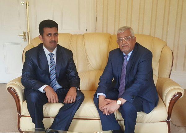 لقاء د.ياسين سعيد نعمان و نصر العيسائي
