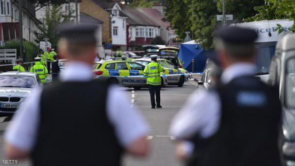 LONDON, ENGLAND - AUGUST 31:  A police officers attend the scene where a woman and a boy were killed when a car being chased by police mounted a pavement and crashed on August 31, 2016 in Penge, London, England. The car was being pursued along Lennard Road when it struck the group at about 14:05 BST according to witnesses. The driver of the car has been arrested and is in custody.  (Photo by Carl Court/Getty Images)