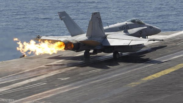 A F/A-18C Hornet of Marine Fighter Attack Squadron 251 (VMFA-251) is catapulted off the flight deck of the USS Theodore Roosevelt (CVN-71) aircraft carrier in the Gulf June 18, 2015. The U.S. carrier is deployed in the region to act as a platform to strike key positions taken over by the Islamic State fighters in Iraq and Syria, according to the ship's press officer. Picture taken June 18, 2015. REUTERS/Hamad I Mohammed